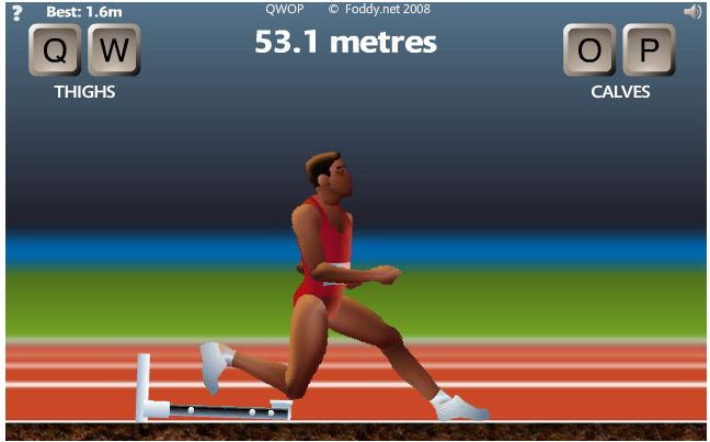 Qwop as an example of muscle metaphor ken arneson 4 at 50 meters you will reach the hurdle you can just kind of knock it over you may need to give an extra qo or two to get over it ccuart Image collections